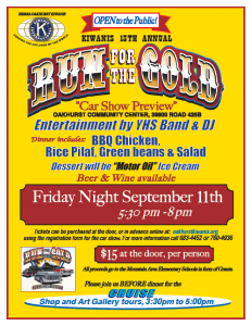 Kiwanis Run for the Gold Car Show Preview 2015