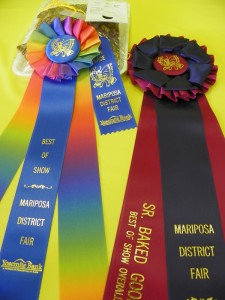 Mariposa County Fair Best in Show ribbons CU - photo by Kellie Flanagan
