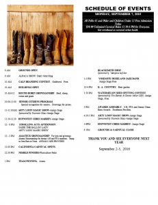Mariposa County Fair events schedule page 4 2015
