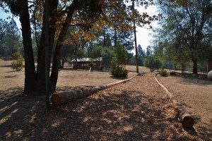 Pathway to cabins at Putney Ranch