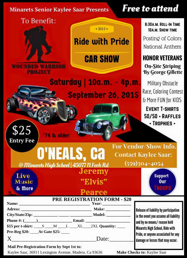 Ride With Pride Car Show Supports Veterans | Sierra News Online