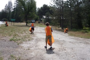 Scouts help at May cleanup KOMB courtesy Dave Smith