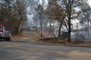 Structure protection at Sundance Fire - photo by Gina Clugston