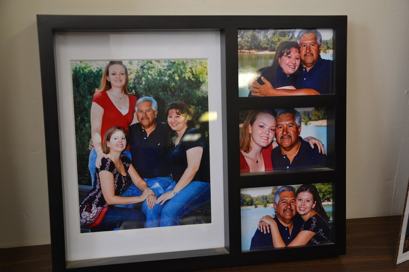 Frank Verduzco with daughters April, Gail, and Cassie