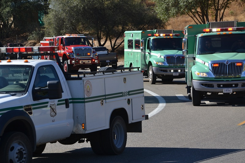 USFS vehicle in parade for Frank Verduzco