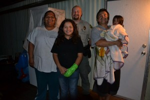 Brooke and Russell Coleman and kids with Sgt. Jacob Tallmon