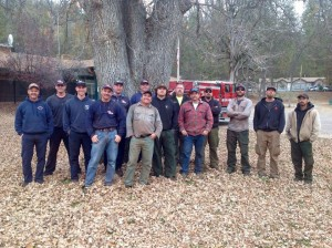 Len Neilsen, Burt Stalter, and some of the crew on the Road 274 hazard tree removal project