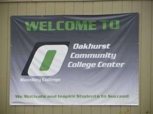 Oakhurst College sign lot 12 22 15 KF