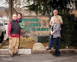Western Sierra Nursery - Robyn and Mark Holland with new owners Dianna and Jeff Conaway - Virginia Lazar 2016