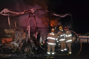 What's left of the RV on Road 222 - photo by Gina Clugston