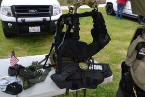Harness for K9 to be lowered from helicopter - photo by Gina Clugston