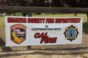 Madera County Fire Department in cooperation with Cal Fire sign - photo by Bill Ritchey