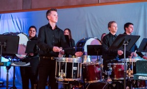 NOTT Thomas Lazar and other percussionists YHS photo by Steve Montalto HighMountain Images