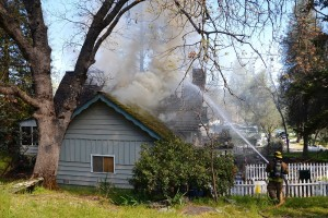 Second story total loss on Pine Fire - photo by Gina Clugston