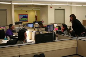 Staff in the Madera County 311 Customer Service Center respond to citizen calls - photo courtesy Madera County