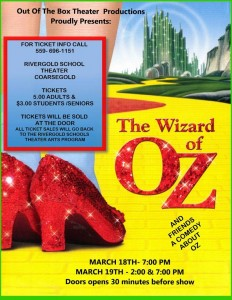 Wizard of Oz actual flyer
