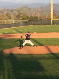 Aaron Hall pitcher at Minarets