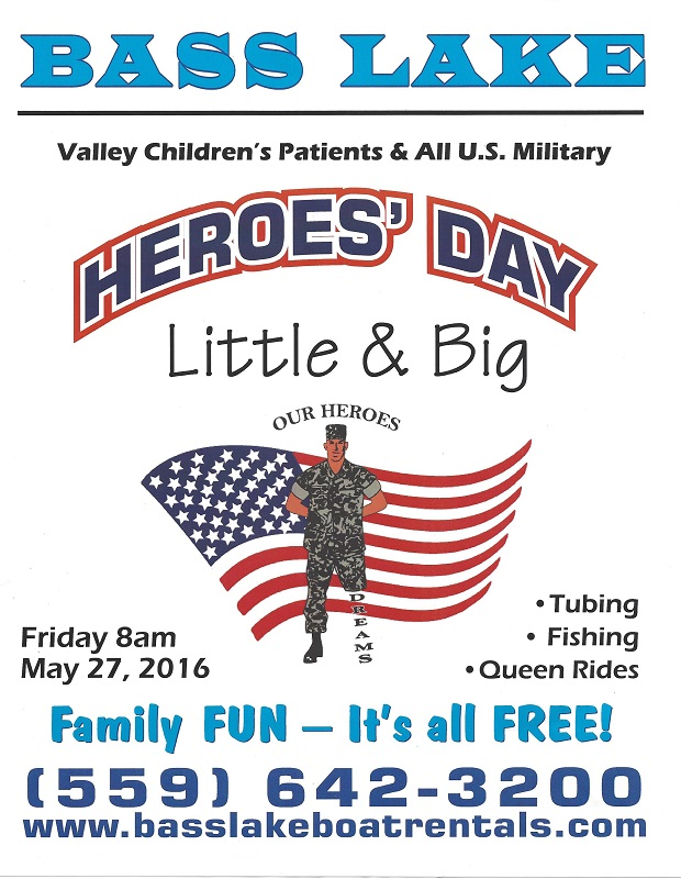 Heroes day big and little at bass lake boat rentals for Youth fishing tournaments near me