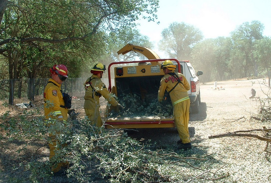 Fuel Reduction project – photo courtesy Cal Fire