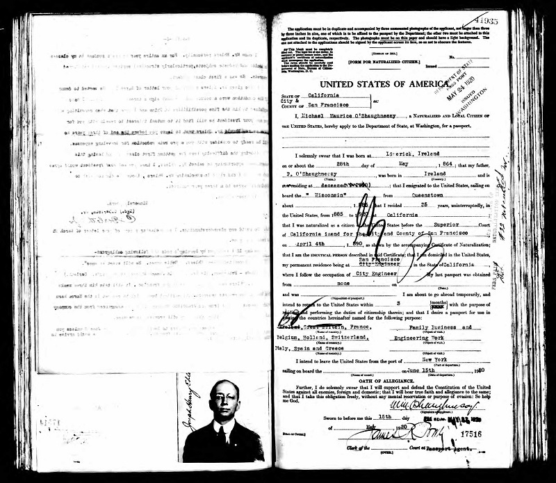 Michael OShaughnessy Passport