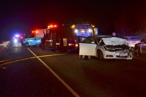 Chevy Cruze involved in fatal crash on Hwy 41 - photo by Gina Clugston