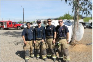 PCF Academy instructors left to right, Madera County Fire-CAL FIRE Engineer Daniel Valenzeula, Engineer Neal Tito, Captain Anthony Garcia, and Captain Vance Killio - photo by Bill Ritchey