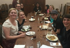 Yosemite Alt Ed job shadow day May 11 2016 students eating - photo by Rhonda Corippo