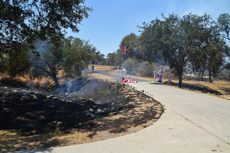 Driveway in Highway 41 fire - photo by Gina Clugston