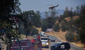 Helicopter over 41 fire - photo by Gina Clugston