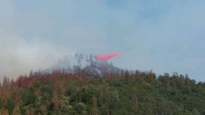 Fire retardant drop from Lazy L