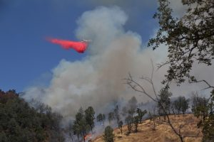 Tanker drop on Serpa Fire - photo by Gina Clugston