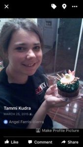 Five questions Tammi Kudra daughter Dakota with cupcake