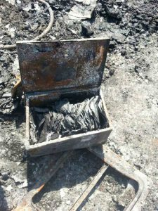 Fork Fire 2016 Leia Wentworth burned out box of papers