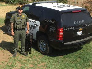 Logan Majeski and Nacho - photo courtesy Madera Co. Sheriff