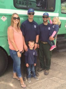 Robison - Sierra Hotshots Nick Robison with kids Sierra and Kaden wife Sharleena and brother in law - courtesy Sharleena Robison