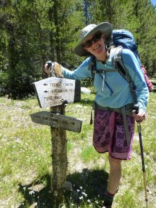 Wendy Fisher Shay at Trail Sign