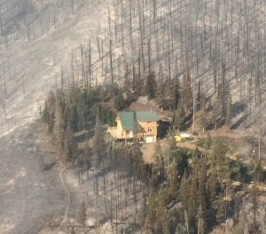 Defensible space saves home on Beaver Fire - photo Inciweb