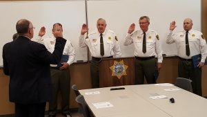 Sheriff Varney swears in new COPs - photo courtesy Madera Co. Sheriff