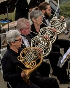 French Horn Players Louise Knight, Neil Stonum, Jill Rowney and Peter Lindstrom - photo by Al Golub