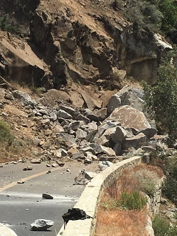 YOSEMITE What Is Being Described As A Significant Rock Slide Near Dog On Highway 140 Has Forced The Closure Of Roadway For At Least 24 Hours
