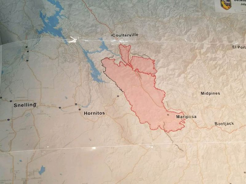 Map Detwiler Fire July 19 2017 Cal Fire Gina Clugston |