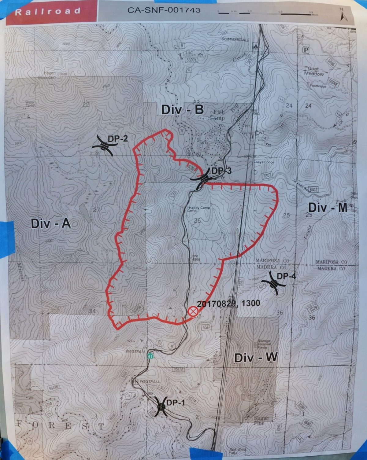 Railroad Fire Perimeter Map 8 30 17