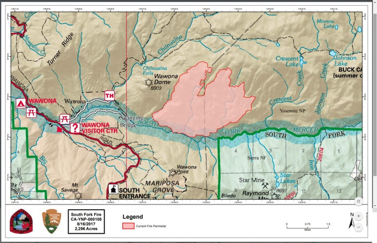 South Fork Fire Now 2900 Acres With 10 Percent Containment Sierra