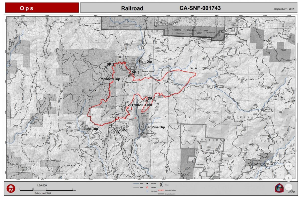 Railroad Fire Perimeter Map 9 1 17