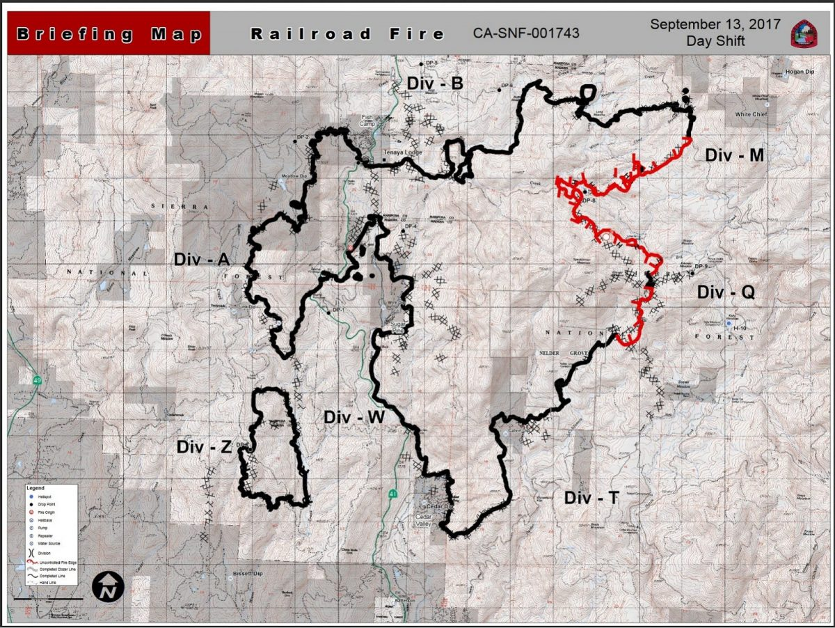 Railroad Fire Perimeter Map 9 13 17