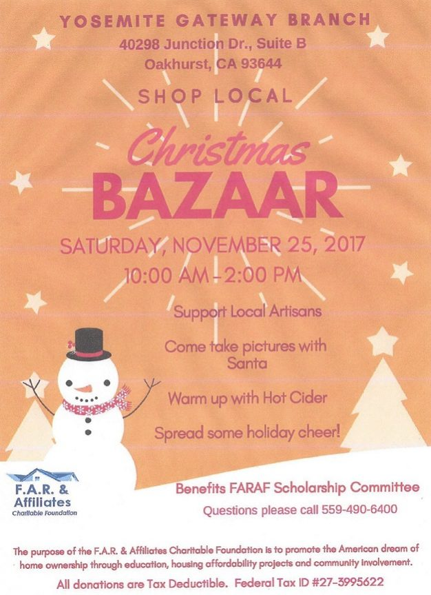 Christmas Bazaar 2020 Oakhurst, Ca Shop Local Christmas Bazaar |