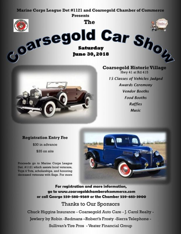 CoarsegoldCarShow - Toys for tots car show 2018