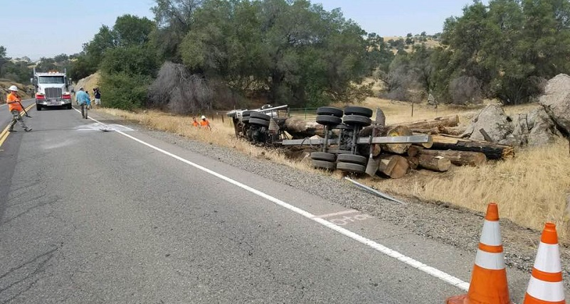 Accident log truck rollover on Hwy 41 July 13 2018 Gina Clugston