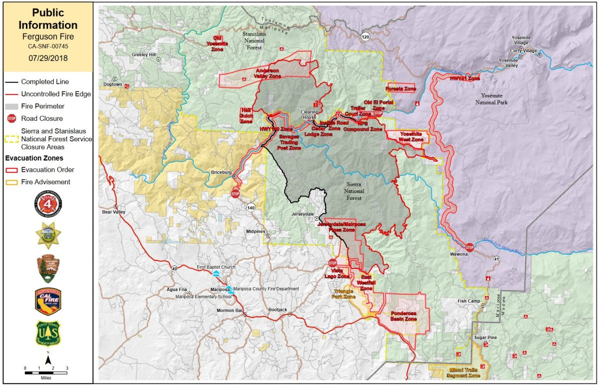 Cal Oes Fire Map.Firing Operations Continue On Ferguson Fire Now 53 646 Acres