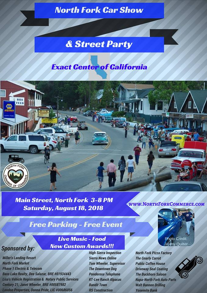 North Fork Car Show And Street Party Flier - Market street car show